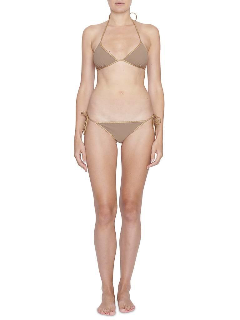 Tooshie Tooshie Hampton reversible triangle bikini taupe bruin