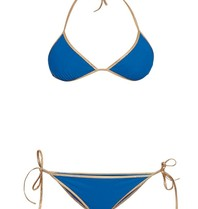 Tooshie Hampton Wendbarer Triangel Bikini blau