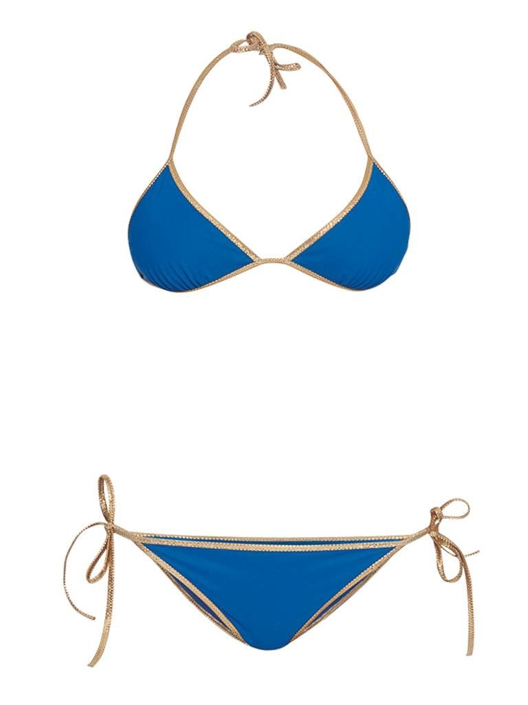 Tooshie Tooshie Hampton Wendbarer Triangel Bikini blau