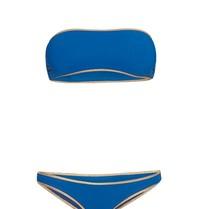 Tooshie Tooshie Hampton reversible bandeau bikini blue