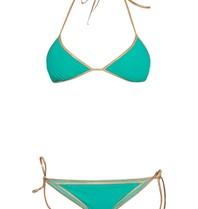 Tooshie Hampton reversible triangle bikini turquoise
