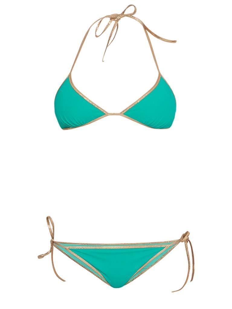 Tooshie Tooshie Hampton reversible triangle bikini turquoise