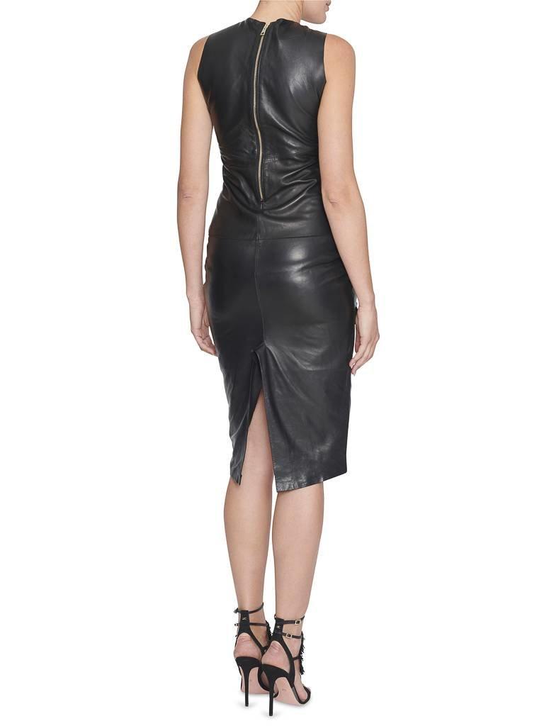 Yirga Yirga leren jurk met open details zwart