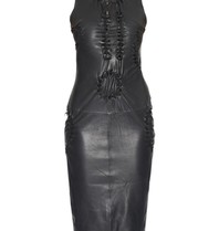 Yirga Yirga leather dress with open details black