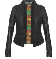 Yirga Yirga leather jacket with studs black