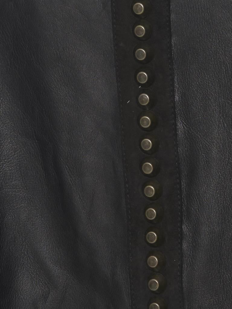Yirga Yirga leren jacket met studs zwart