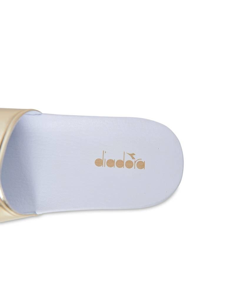 Diadora Diadora slipper white gold