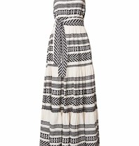 Devotion Devotion maxi dress with print black white