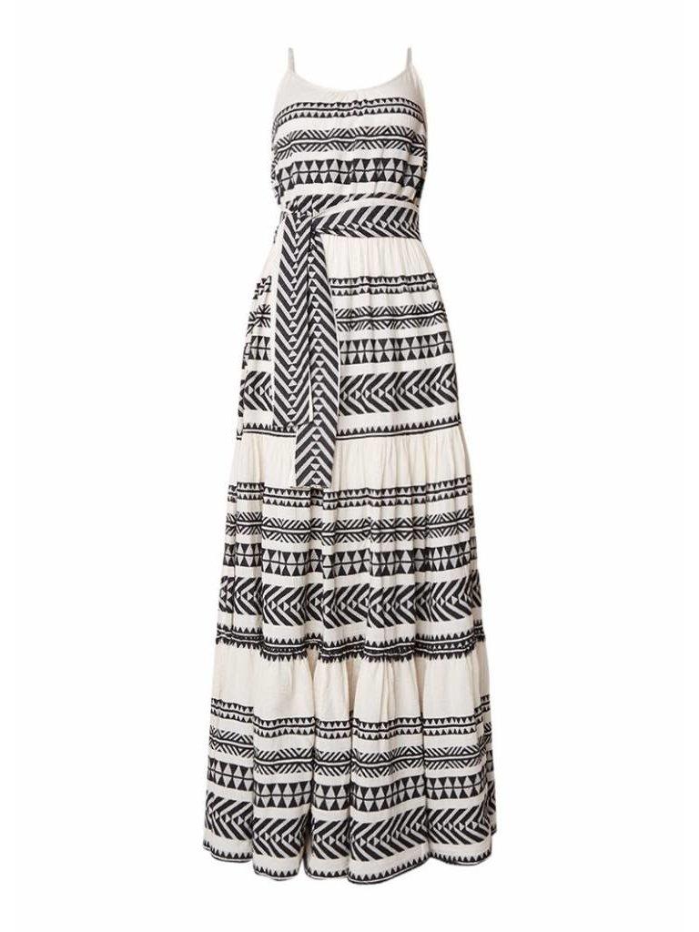 Devotion Devotion maxi jurk met print zwart wit