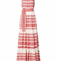 Devotion Devotion maxi dress with print red white