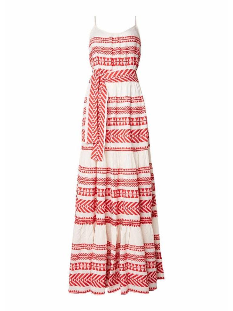 Devotion Devotion maxi jurk met print rood wit