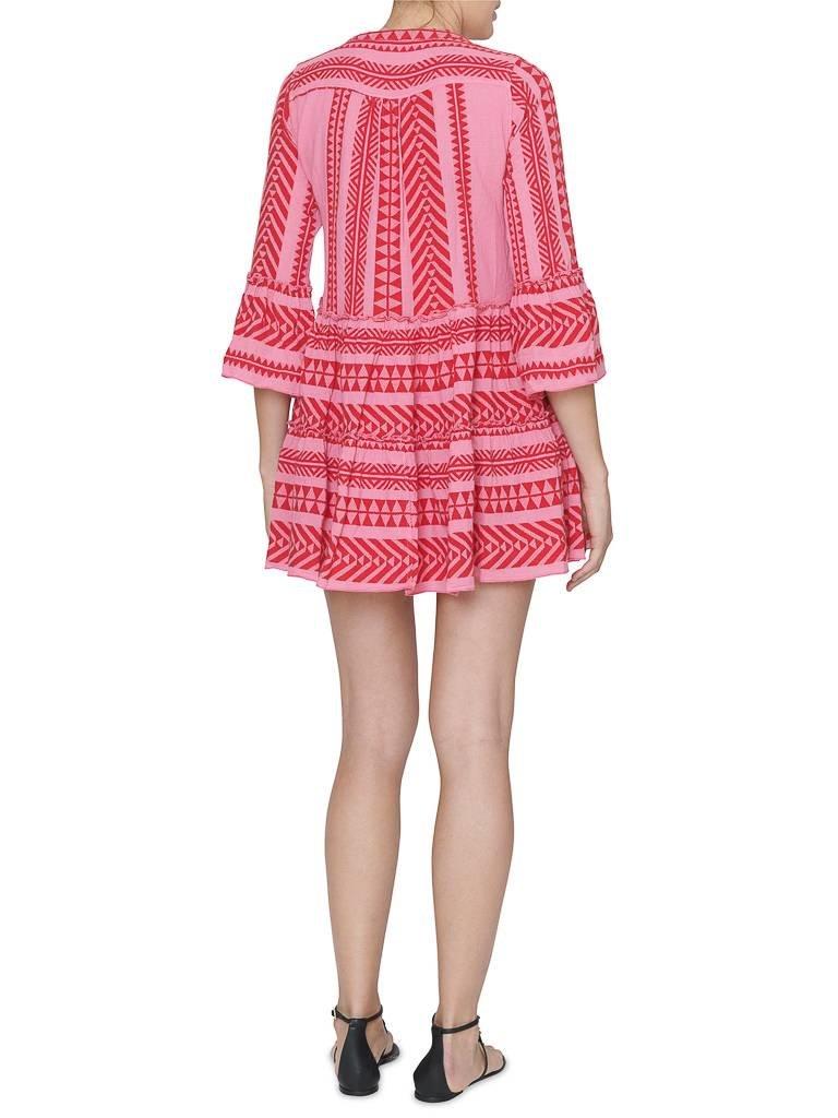 Devotion Devotion jurk met print roze rood