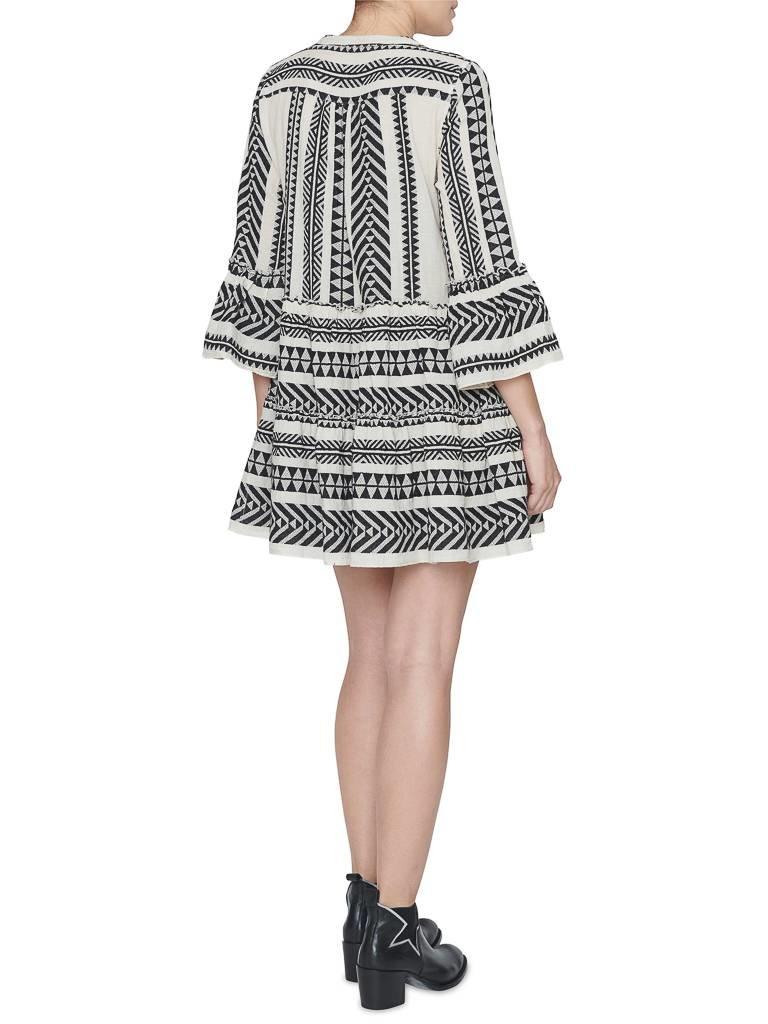 Devotion jurk met print zwart wit