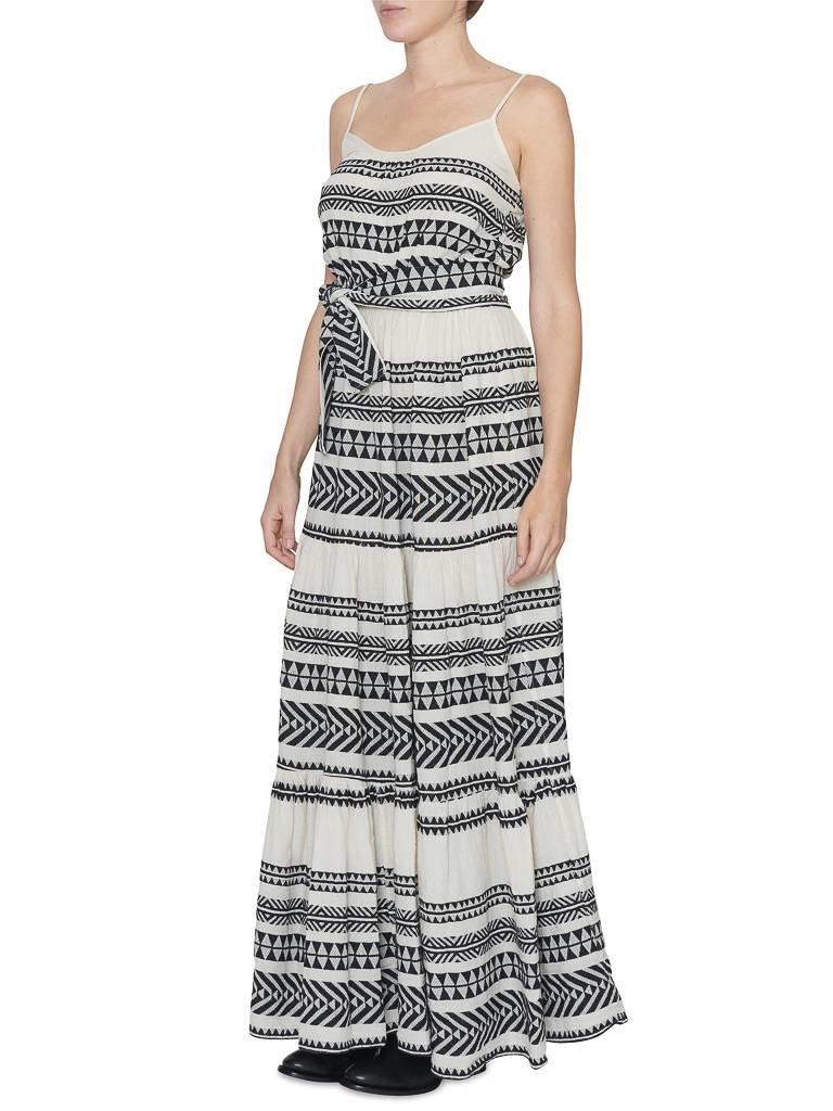 Devotion maxi jurk met print zwart wit