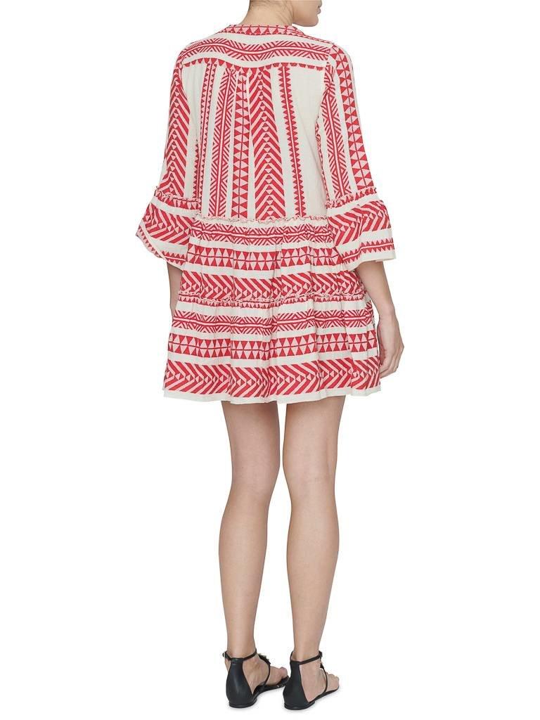 Devotion Devotion jurk met print rood wit
