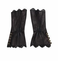 Elisabetta Franchi Elisabetta Franchi gloves with buttons black