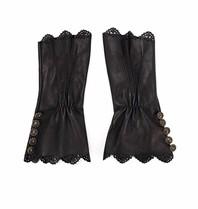 Elisabetta Franchi Elisabetta Franchi Handschuhe mit Knöpfen schwarz