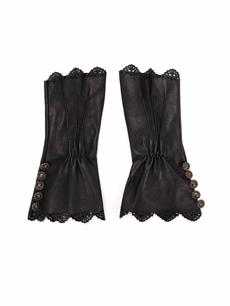 Elisabetta Franchi Elisabetta Franchi gloves with buttons black