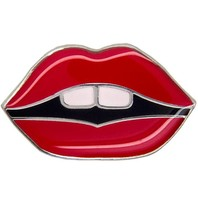 Godert.Me Godert.me lips pin red silver
