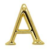 Godert.me A letter pin gold