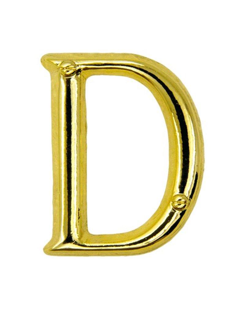 Godert.me D letter pin gold