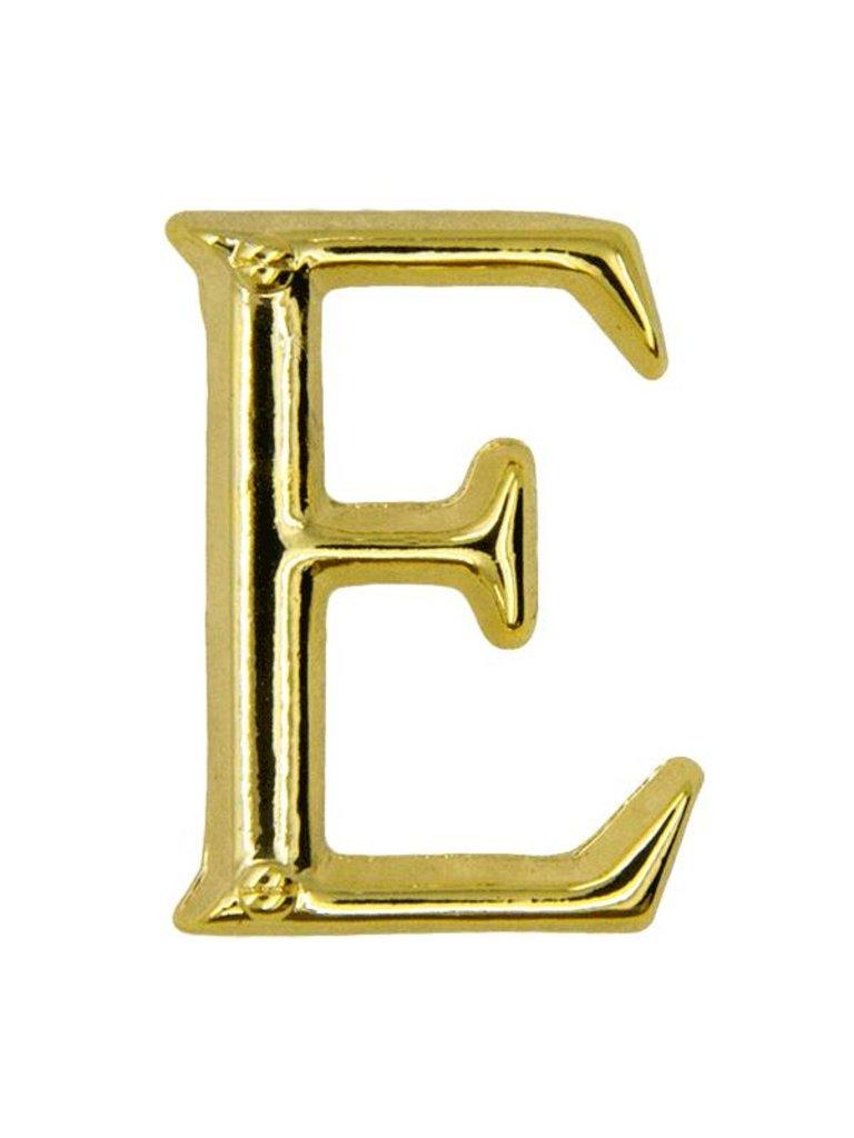 Godert.me E letter pin gold
