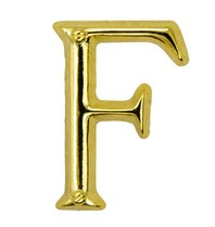 Godert.Me Godert.me F letter pin gold