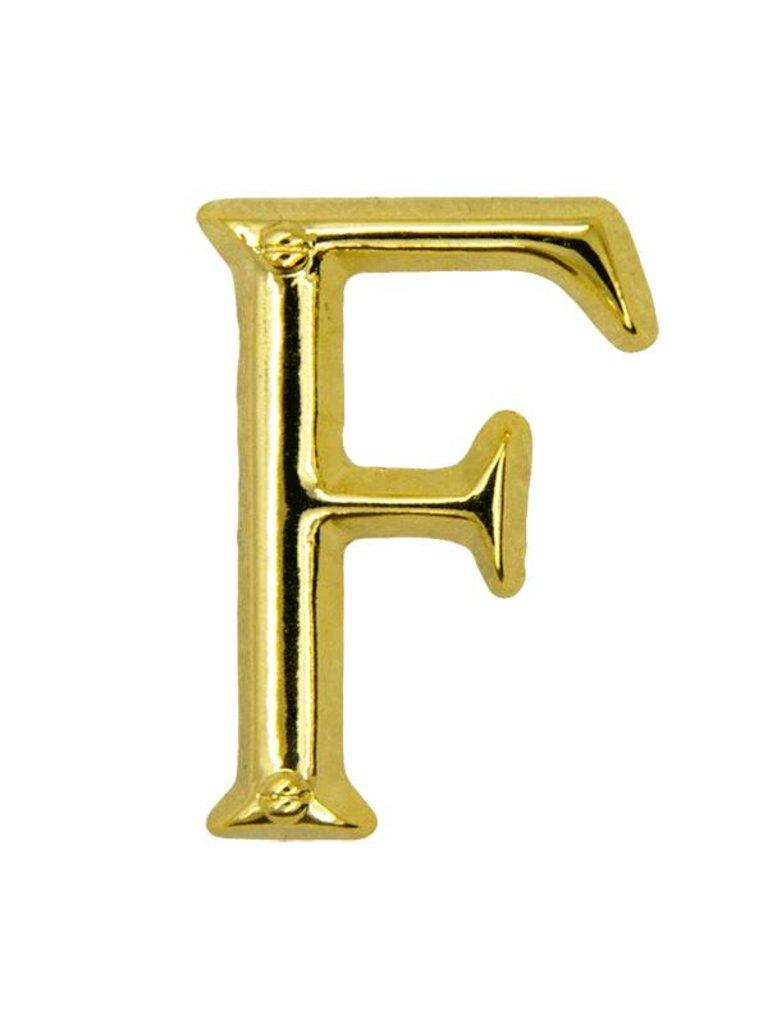 Godert.me F letter pin gold