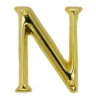 Godert.me N letter pin gold