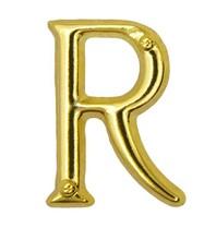 Godert.me R letter pin goud