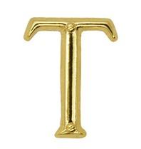Godert.me T letter pin gold