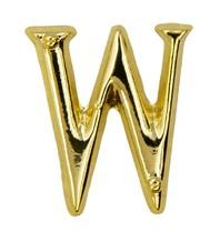 Godert.me W letter pin gold