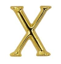 Godert.me X letter pin gold