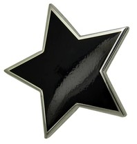 Godert.me Big black star pin silver