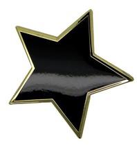 Godert.me Big black star pin gold