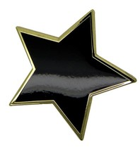 Godert.me Big black star pin goud