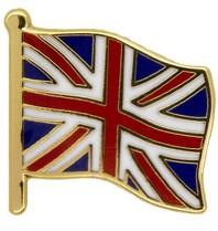 Godert.me Britain flag pin gold