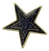 Godert.Me Godert.me Star pin blauw goud