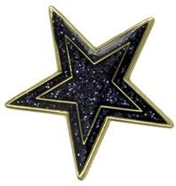 Godert.me Star pin blauw goud