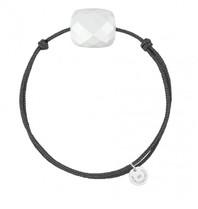 Morganne Bello Morganne Bello cord bracelet white Agate
