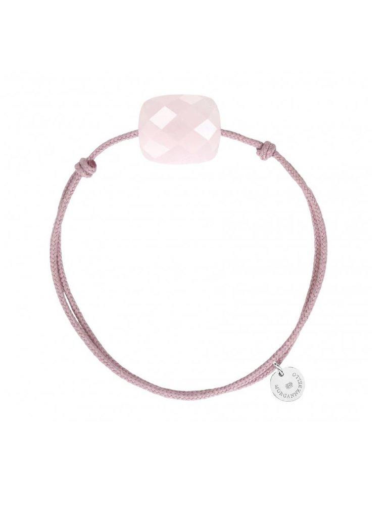 Morganne Bello Morganne Bello cord bracelet powder pink Quartz