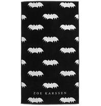 Zoe Karssen Bats all over handdoek met opdruk zwart