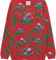 Zoe Karssen Island Fever sweater met print rood