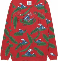 Zoe Karssen Zoe Karssen Island Fever sweater with print red