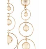 Elisabetta Franchi Ohrringe mit goldenen Ringen