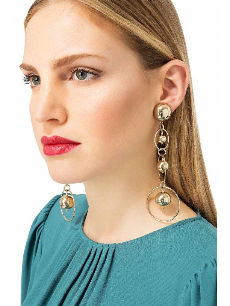 Elisabetta Franchi Elisabetta Franchi oorbellen met gouden ringen