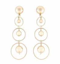 Elisabetta Franchi earrings with gold rings