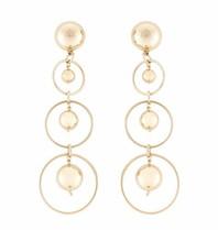 Elisabetta Franchi oorbellen met gouden ringen