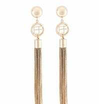 Elisabetta Franchi earrings with ball