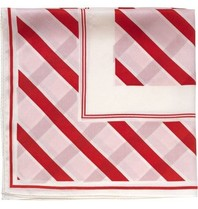 Notes Du Nord silk scarf with stripes strawberry